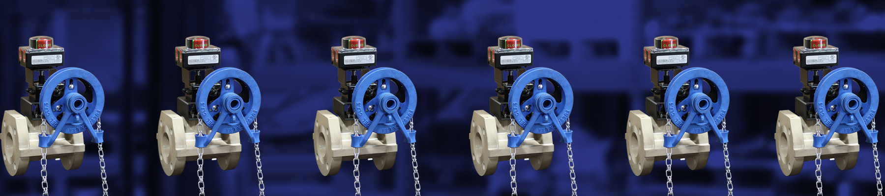 Chain Wheel Operated Ball Valve w/ Limit Switch
