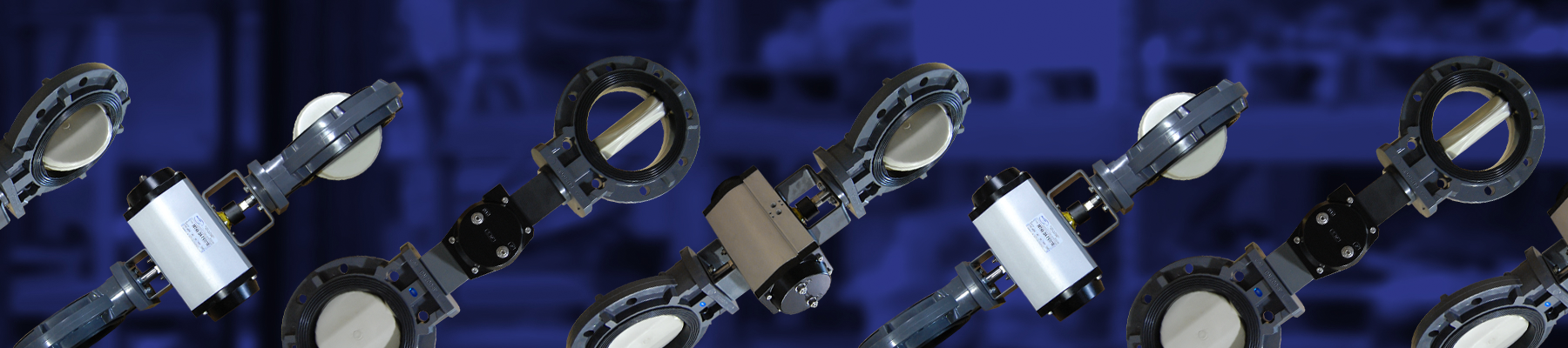 Dual Automated PVC Butterfly Valves
